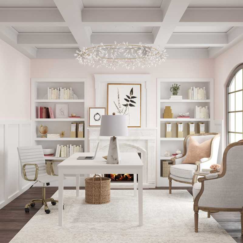 Classic, Traditional, Transitional Office Design by Havenly Interior Designer Kelsey