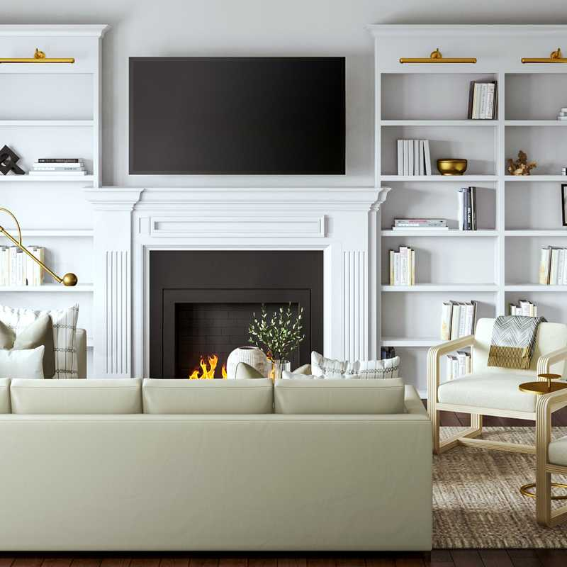 Contemporary, Transitional Living Room Design by Havenly Interior Designer Sarah
