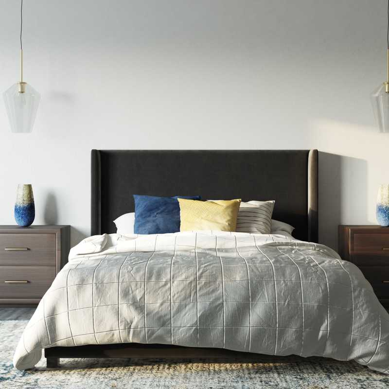 Contemporary, Modern, Industrial Bedroom Design by Havenly Interior Designer Shaina