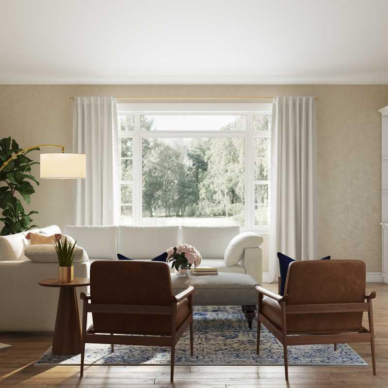 Modern, Coastal, Farmhouse, Rustic Living Room Design by Havenly Interior Designer Maria