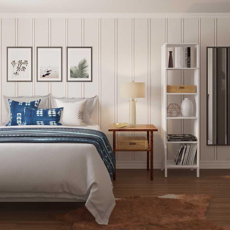 Modern, Coastal, Global, Minimal Bedroom Design by Havenly Interior Designer Keri