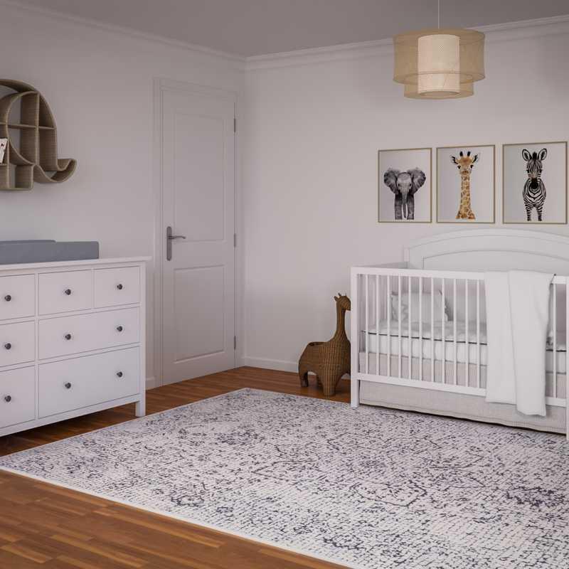 Contemporary, Eclectic Nursery Design by Havenly Interior Designer Sarah