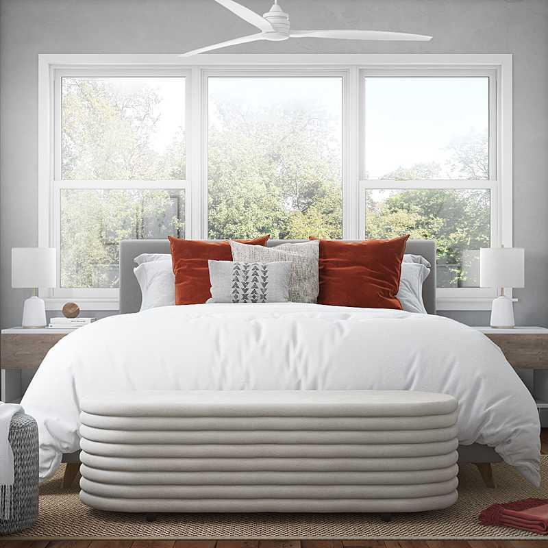 Coastal, Midcentury Modern, Scandinavian Bedroom Design by Havenly Interior Designer Vana