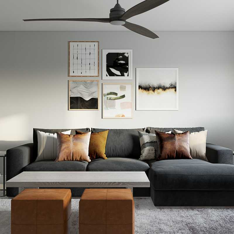 Modern, Industrial, Minimal Living Room Design by Havenly Interior Designer Pradnya