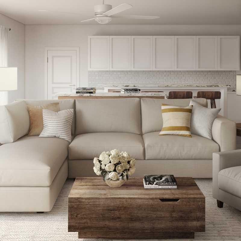 Modern, Classic, Transitional Living Room Design by Havenly Interior Designer Barbara