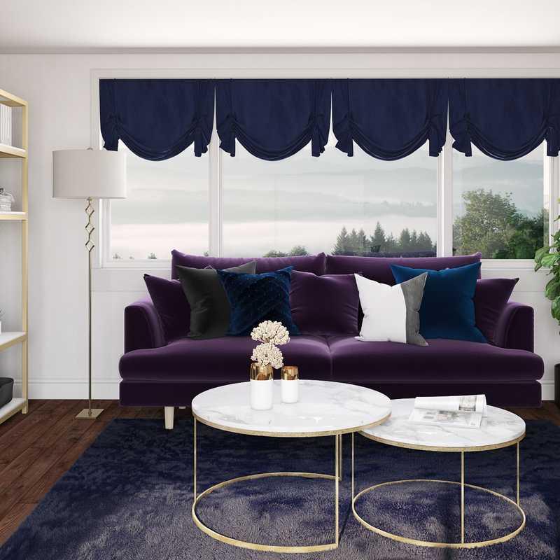 Glam Living Room Design by Havenly Interior Designer D'Arel