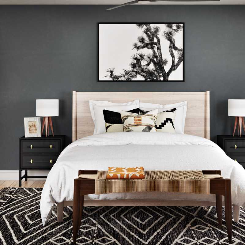 Midcentury Modern Bedroom Design by Havenly Interior Designer Emilee
