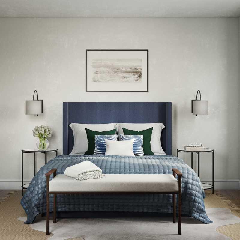 Transitional Bedroom Design by Havenly Interior Designer Kaity
