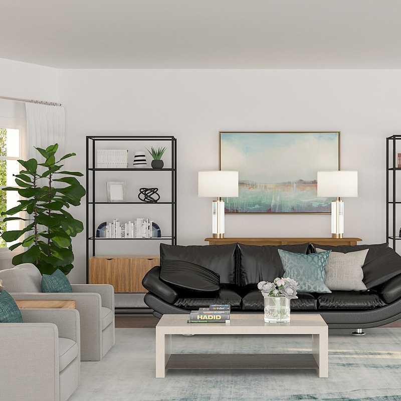 Glam, Transitional Living Room Design by Havenly Interior Designer Barbara