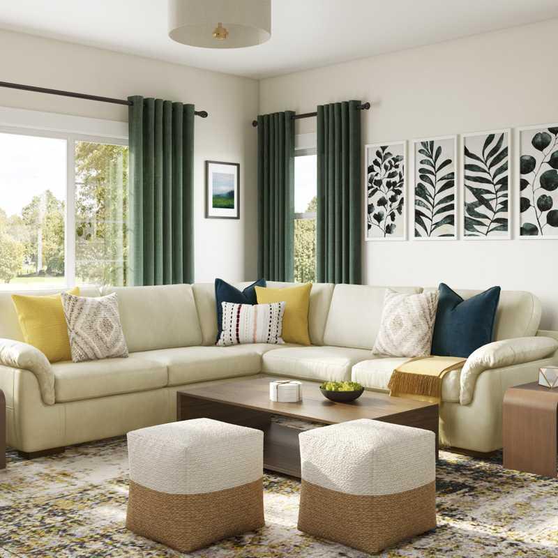 Midcentury Modern, Scandinavian Living Room Design by Havenly Interior Designer Julie