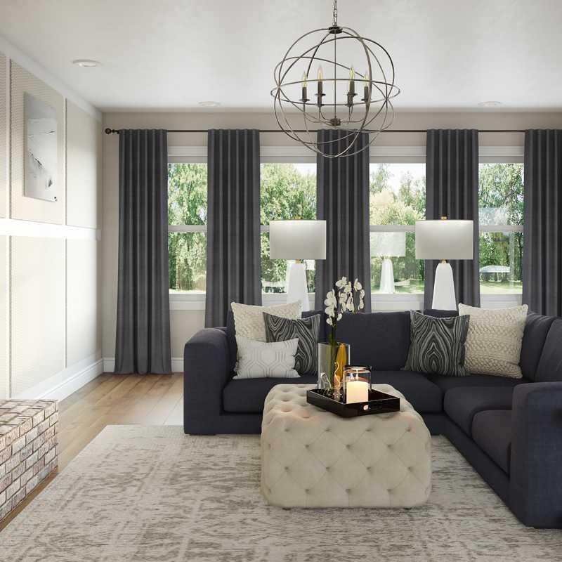 Classic, Glam Living Room Design by Havenly Interior Designer Tara