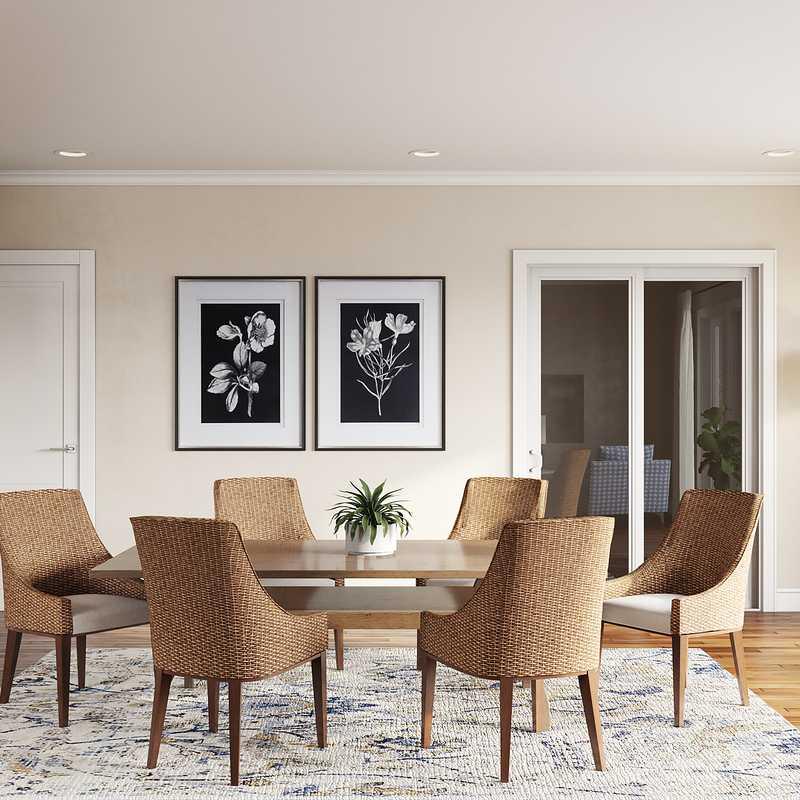 Classic, Coastal, Farmhouse Dining Room Design by Havenly Interior Designer Katie