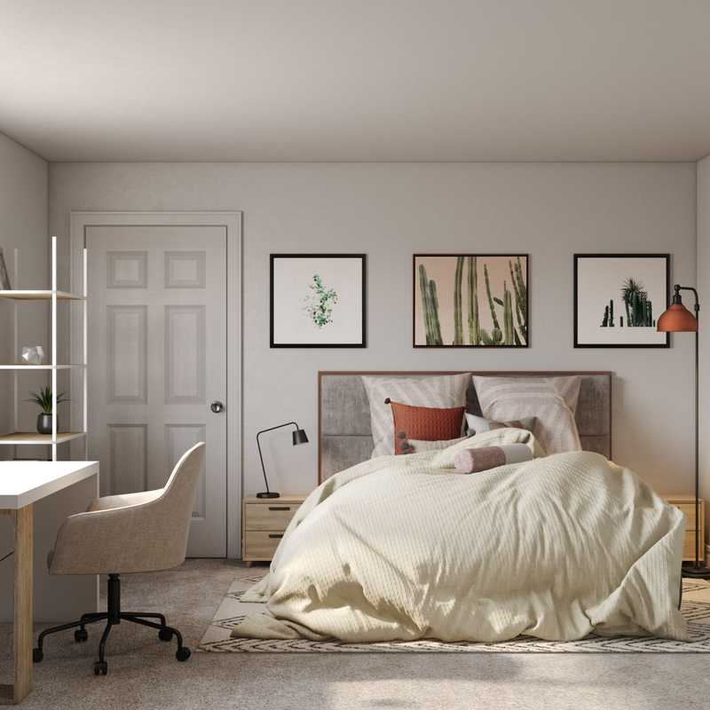 Modern, Bohemian, Midcentury Modern Bedroom Design by Havenly Interior Designer Rita