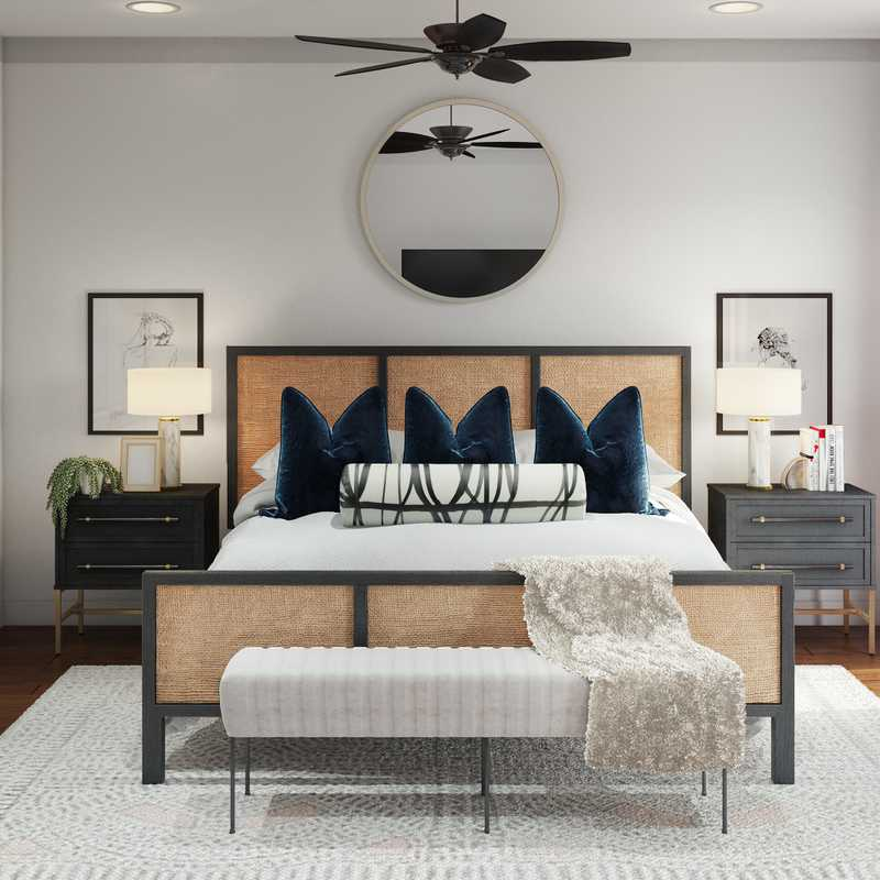Glam, Transitional Bedroom Design by Havenly Interior Designer Maria