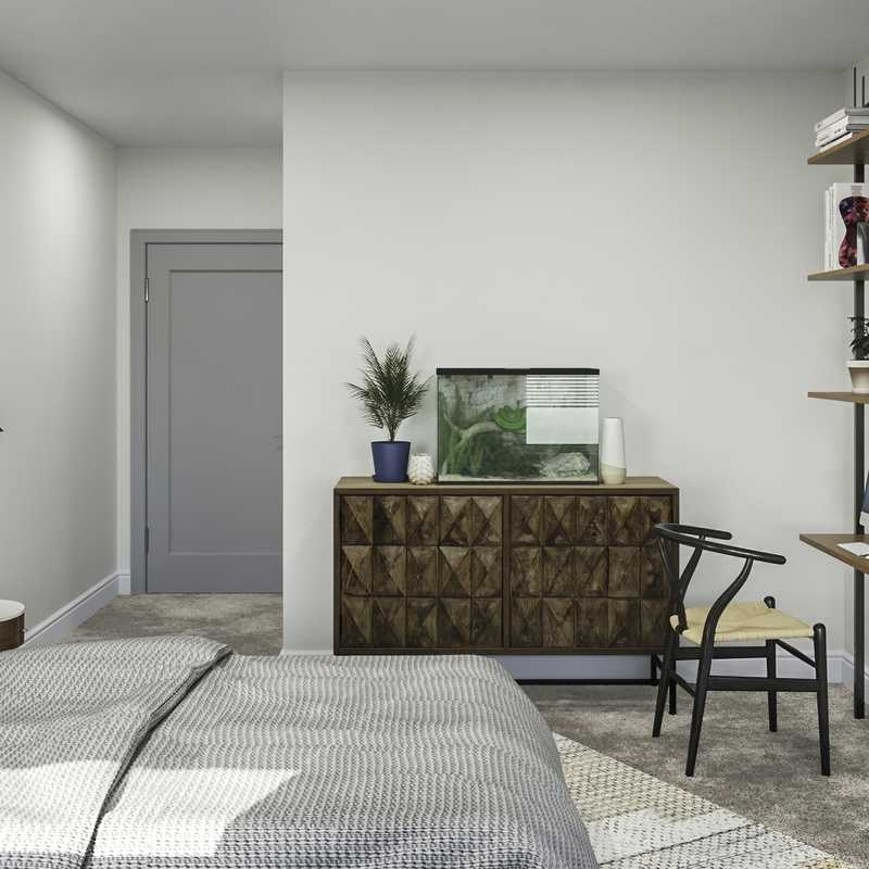 Modern, Industrial, Southwest Inspired, Midcentury Modern, Minimal Bedroom Design by Havenly Interior Designer Natalie