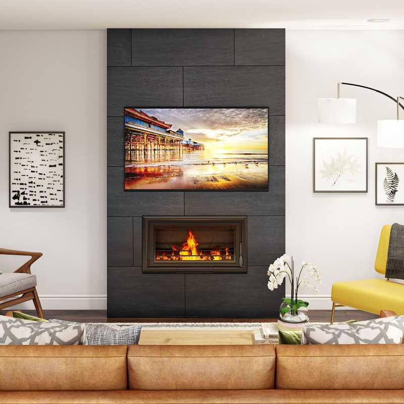 Midcentury Modern Living Room Design by Havenly Interior Designer Essie
