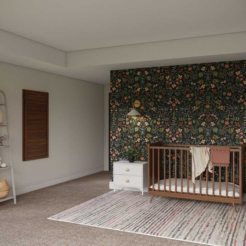 Contemporary, Modern, Bohemian Nursery Design by Havenly Interior Designer Rebecca