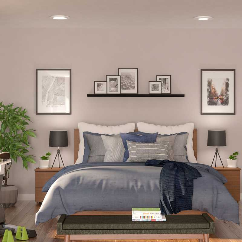 Modern, Midcentury Modern, Minimal Bedroom Design by Havenly Interior Designer Catrina