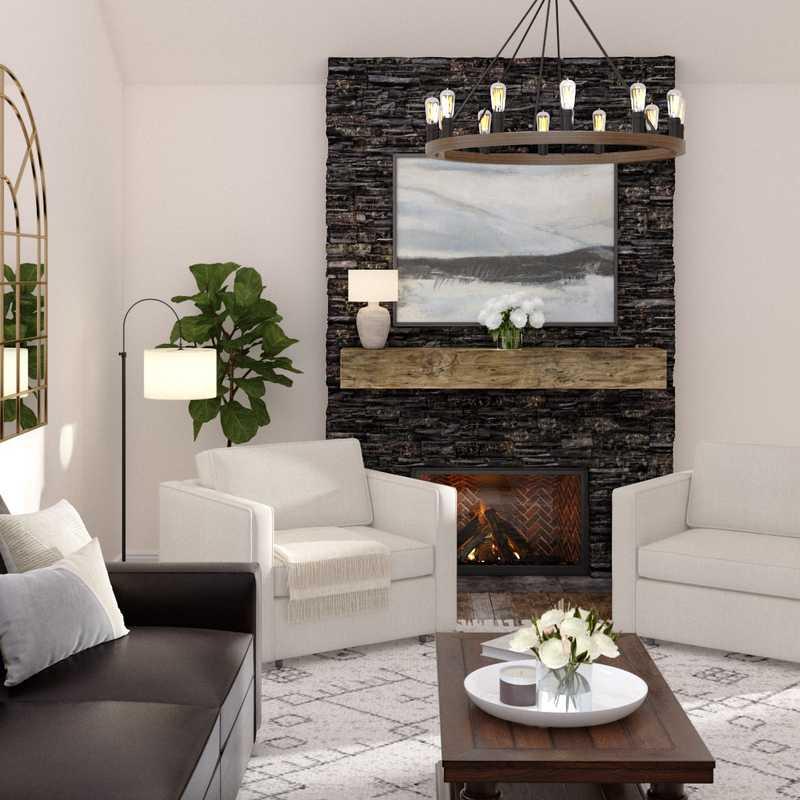 Traditional, Farmhouse Living Room Design by Havenly Interior Designer Namita
