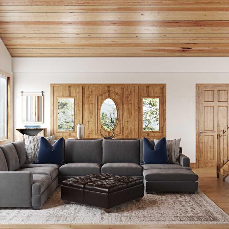 Rustic, Transitional Living Room Design by Havenly Interior Designer Allison