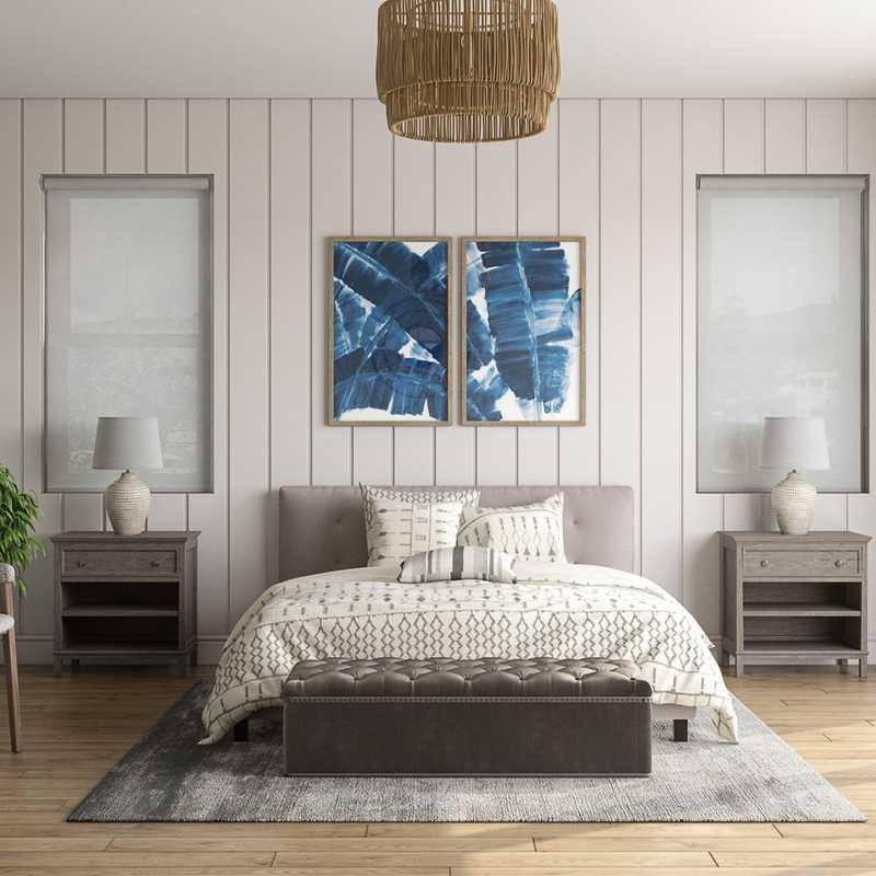 Coastal, Farmhouse Bedroom Design by Havenly Interior Designer Caitlin