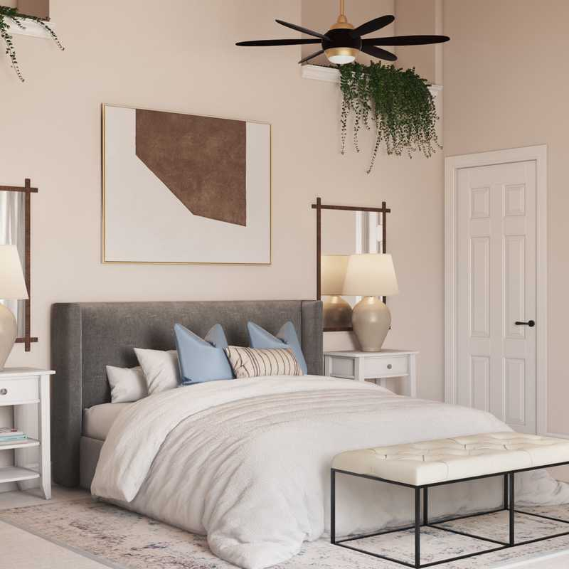 Contemporary, Eclectic, Bohemian Bedroom Design by Havenly Interior Designer Isaac