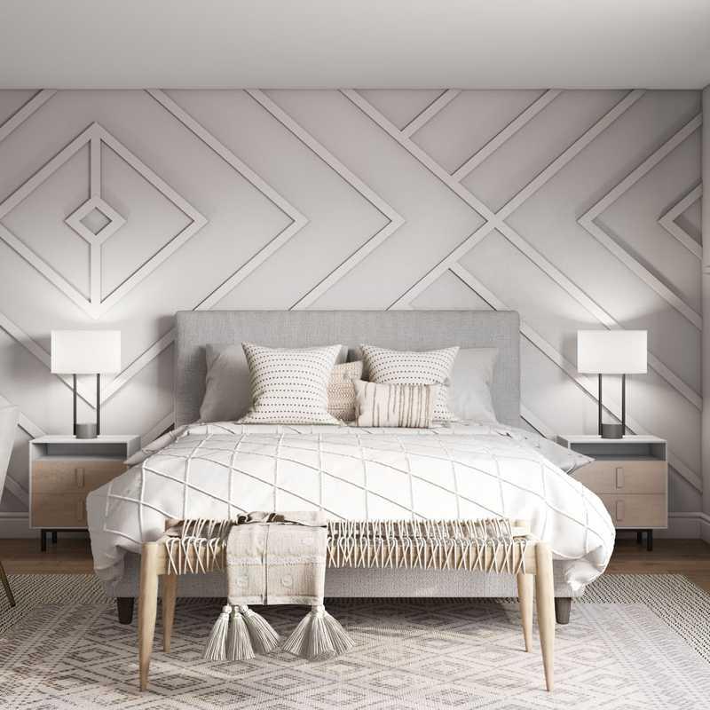 Bohemian, Scandinavian Bedroom Design by Havenly Interior Designer Andrea