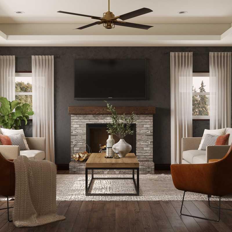Traditional, Transitional Living Room Design by Havenly Interior Designer Fendy