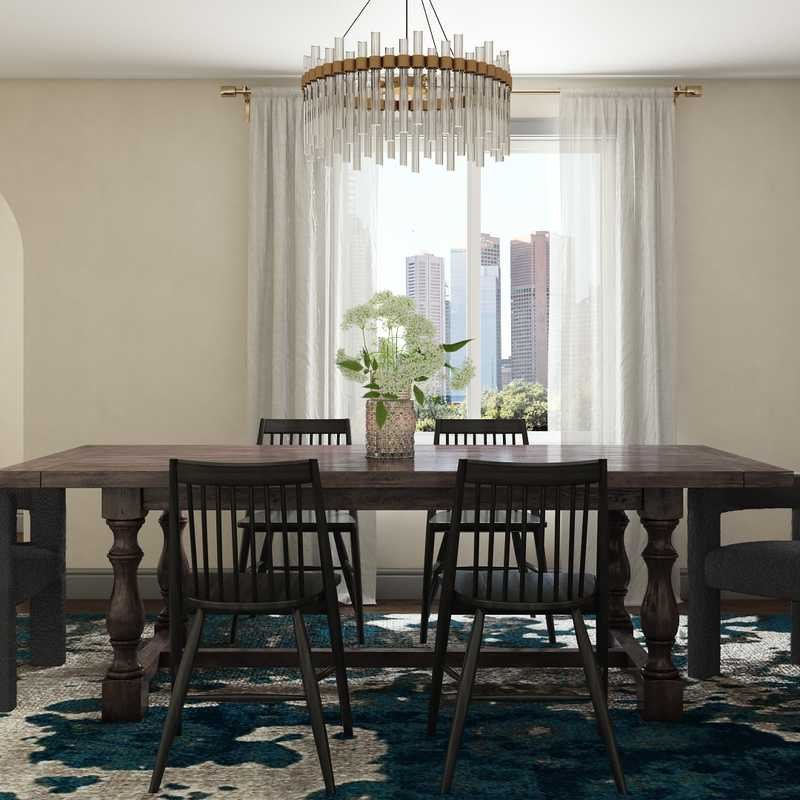 Contemporary, Eclectic, Glam Dining Room Design by Havenly Interior Designer Erin