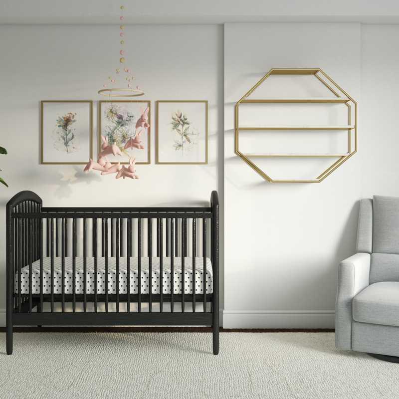 Contemporary, Classic Nursery Design by Havenly Interior Designer Jill