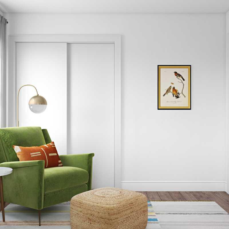 Bohemian, Midcentury Modern Office Design by Havenly Interior Designer Safak