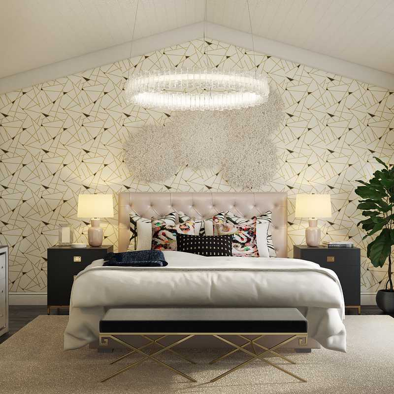 Contemporary, Modern, Glam, Preppy Bedroom Design by Havenly Interior Designer Annie