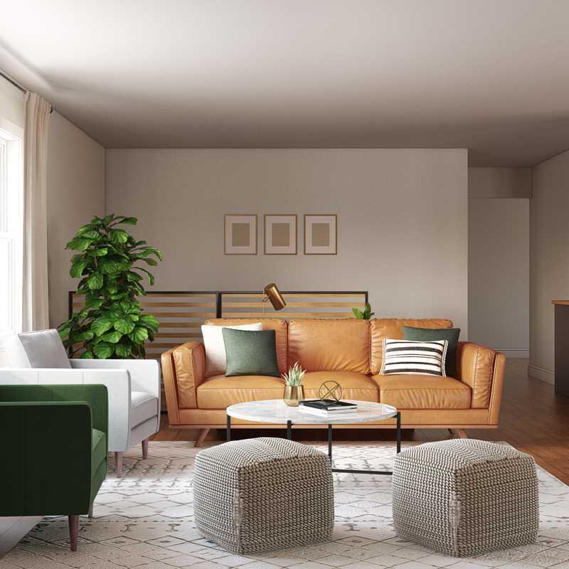 Contemporary, Modern, Midcentury Modern Living Room Design by Havenly Interior Designer Melissa