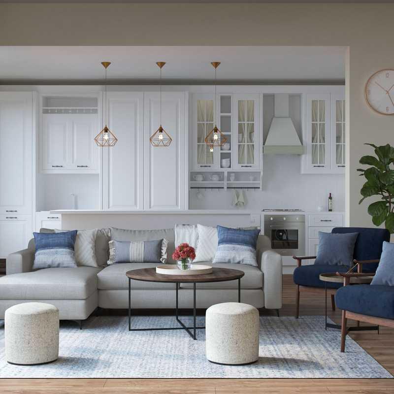 Modern, Farmhouse, Rustic, Transitional Living Room Design by Havenly Interior Designer Hayley