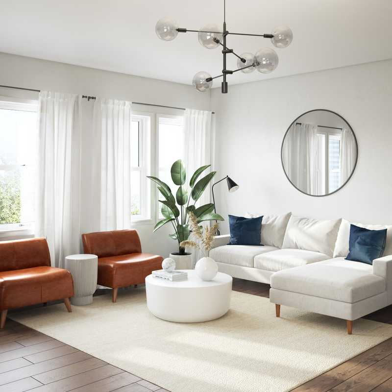 Minimal, Scandinavian Living Room Design by Havenly Interior Designer Leslie