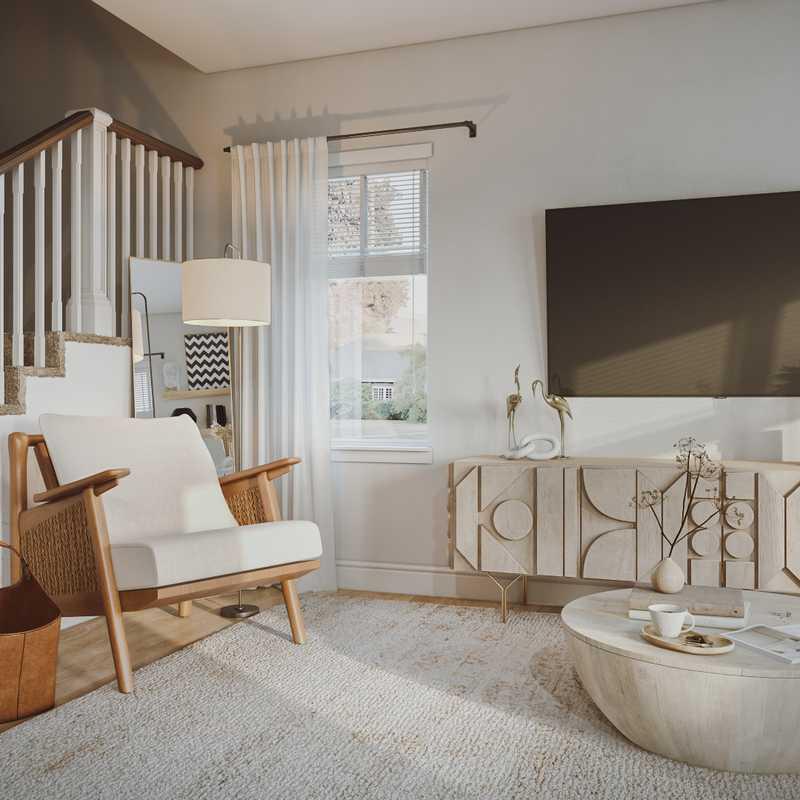 Modern, Bohemian, Farmhouse Living Room Design by Havenly Interior Designer Astrid