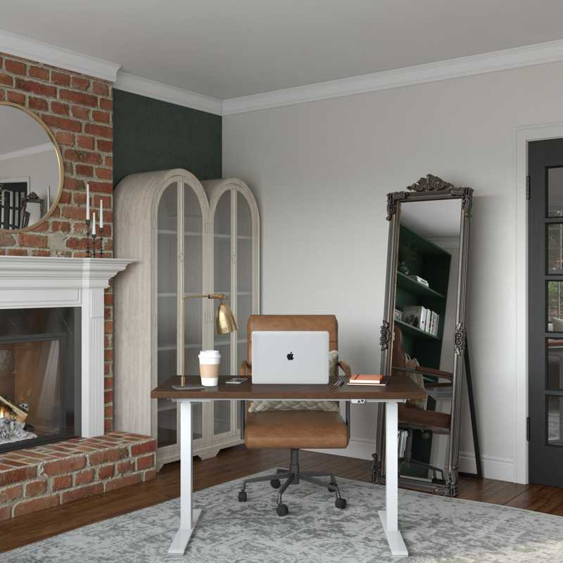 Contemporary, Modern, Eclectic, Vintage Office Design by Havenly Interior Designer Erin