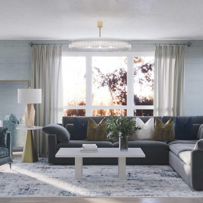 Contemporary, Glam, Transitional Living Room Design by Havenly Interior Designer Melisa