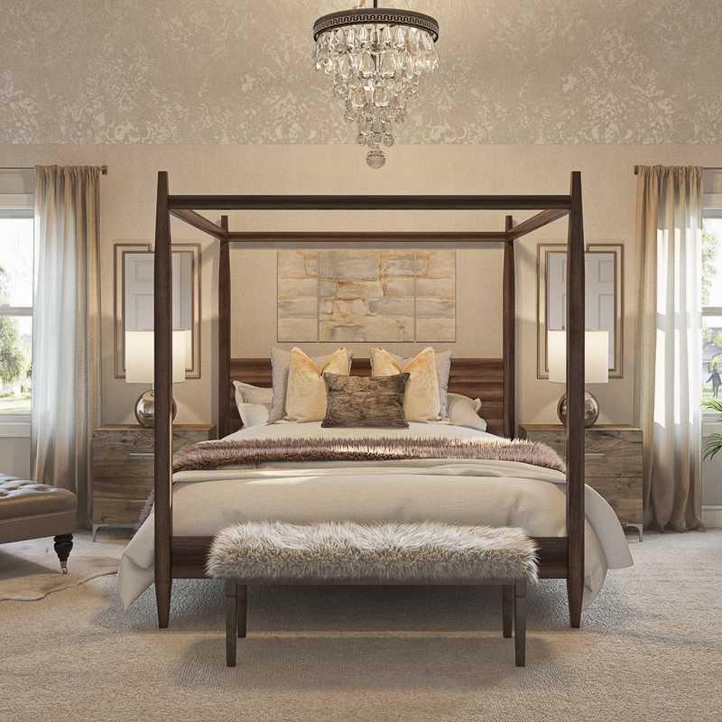 Glam Bedroom Design by Havenly Interior Designer Marcelo