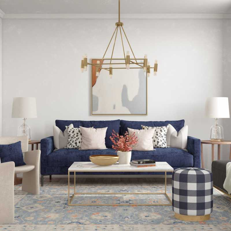 Contemporary, Classic, Glam Living Room Design by Havenly Interior Designer Vivian