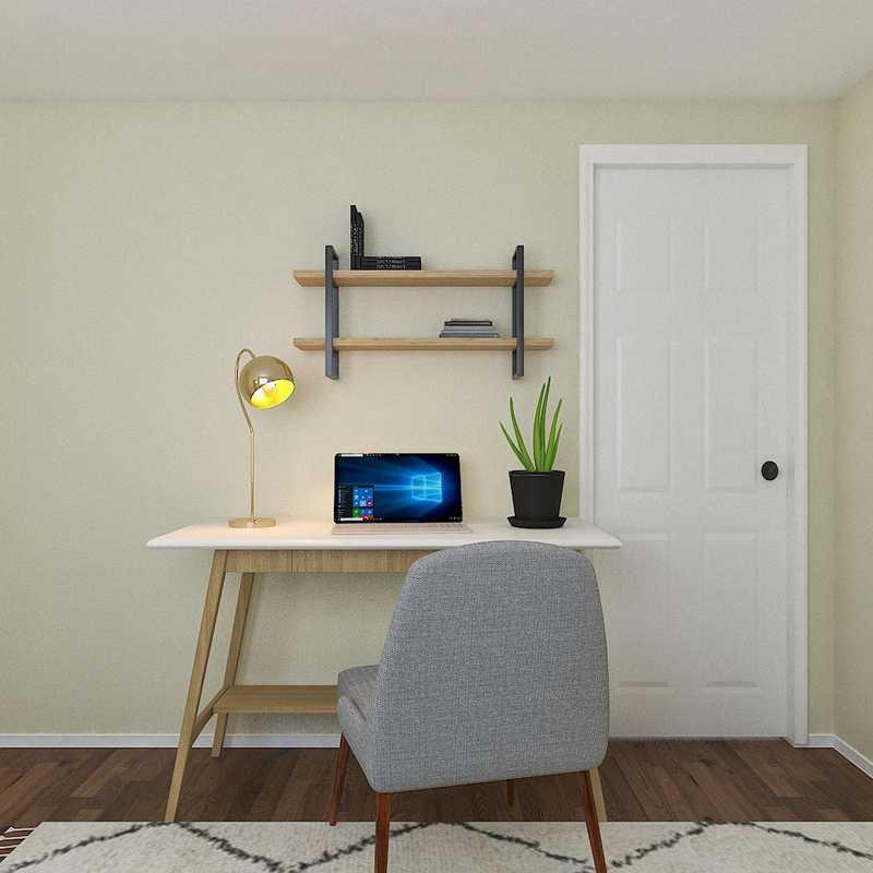Midcentury Modern, Scandinavian Bedroom Design by Havenly Interior Designer Caitlin