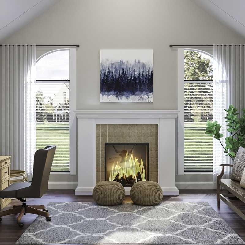 Contemporary, Farmhouse, Rustic Office Design by Havenly Interior Designer Chelsea