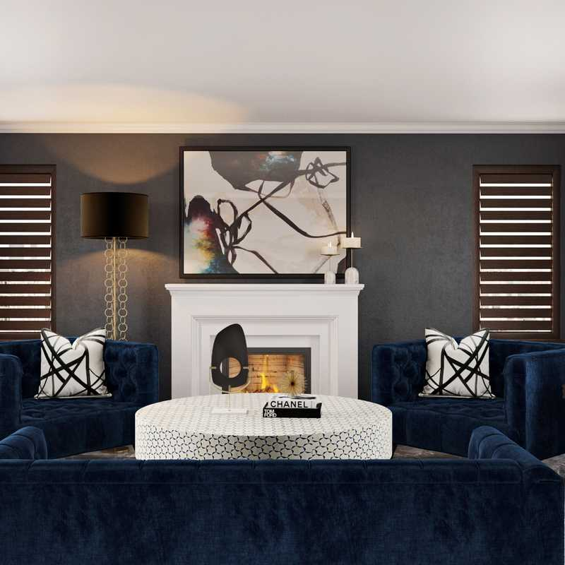 Contemporary Living Room Design by Havenly Interior Designer Brianna