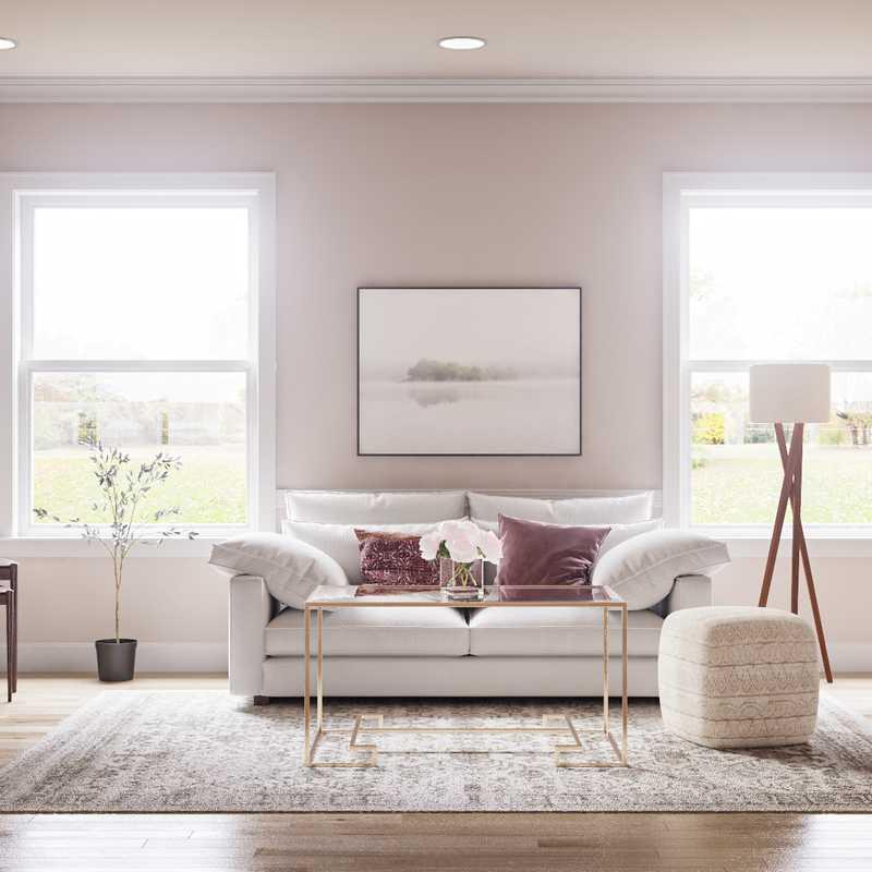 Modern, Eclectic, Farmhouse, Vintage Living Room Design by Havenly Interior Designer Corey