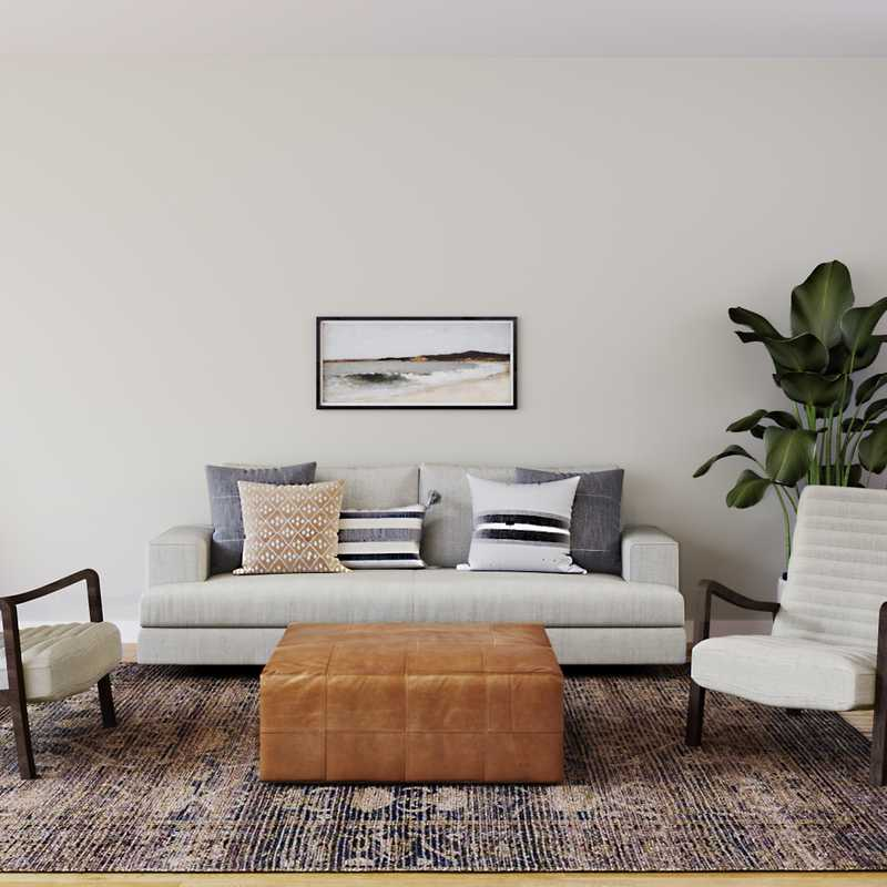 Modern, Transitional Living Room Design by Havenly Interior Designer Stacy
