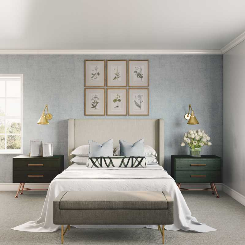 Midcentury Modern Bedroom Design by Havenly Interior Designer Brooke