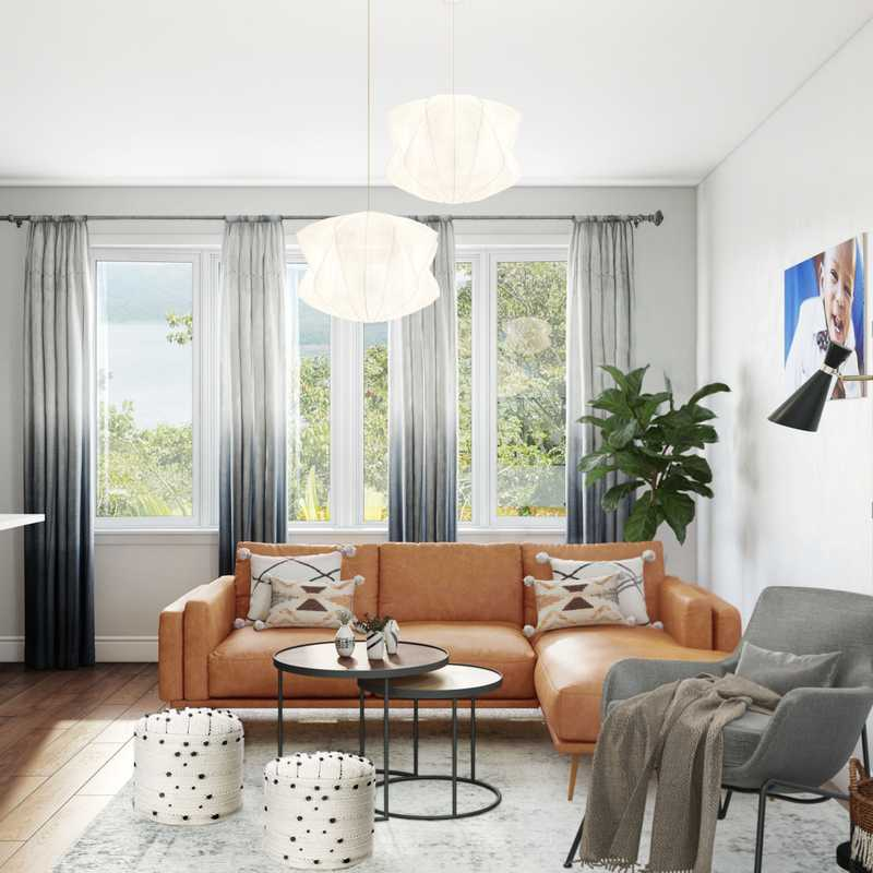 Contemporary, Midcentury Modern, Scandinavian Living Room Design by Havenly Interior Designer Ayu