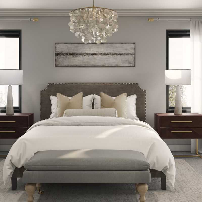 Contemporary Bedroom Design by Havenly Interior Designer Isaac