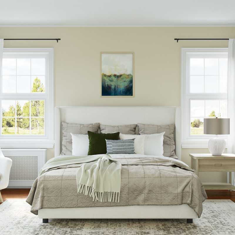 Modern, Classic, Bohemian Bedroom Design by Havenly Interior Designer Madison