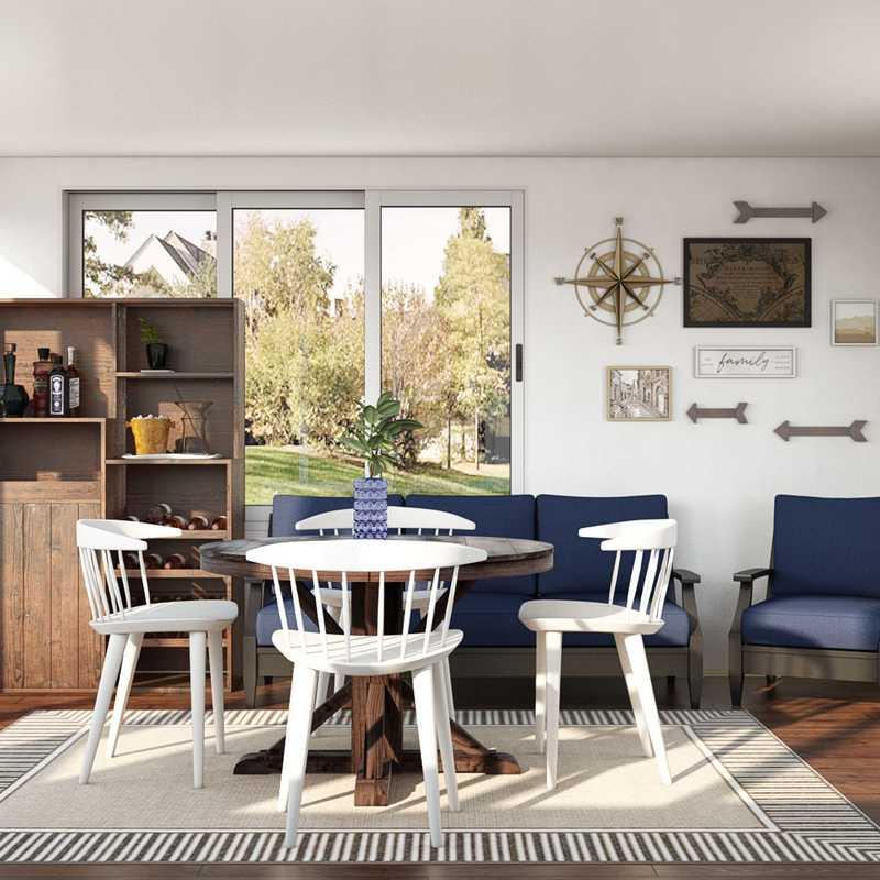 Farmhouse, Scandinavian Dining Room Design by Havenly Interior Designer Morgan